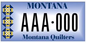 Eureka Quilters License Plate